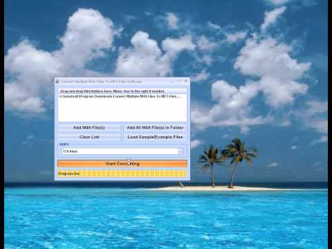 How To Use Convert Multiple M4A Files To MP3 Files Software
