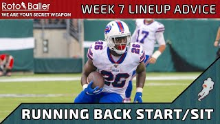 Running Back Start/Sit - Week 7 Lineup Advice