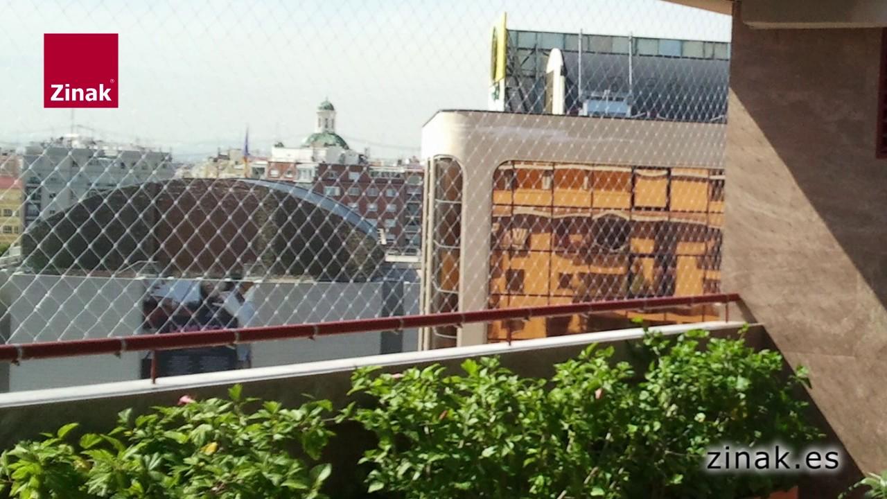 Zinak redes de protecci n para balcones terrazas y - Proteccion para terrazas ...