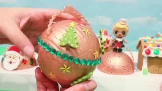Lol Überraschung Babys Diy Weihnachtsausgabe! Spielzeug Und Puppen Spaß Für Kinder & Lebkuchenhaus