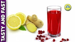 CRANBERRY JUICE RECIPE DETOX. How To Make Fresh CRANBERRY JUICE WITH GINGER. Cranberry punch