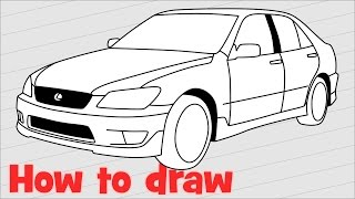 How to draw a car Lexus IS 200 SPORT