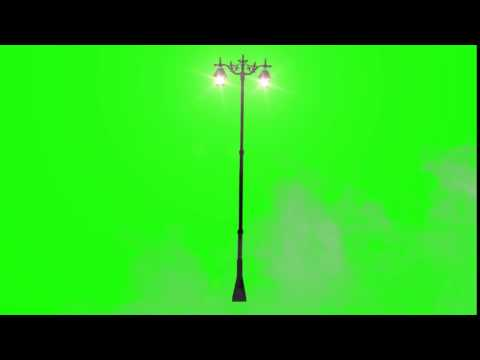 Street Light and Mist   Green Screen Animation Footage