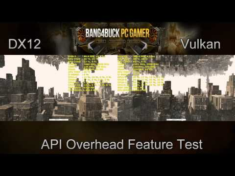 DX12 VS Vulkan API Overhead Feature Test | GTX 1080 | i7 5960X 4.4GHz