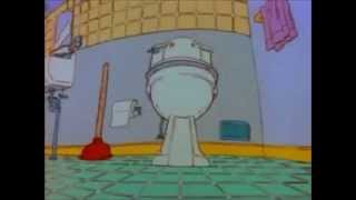 Tommy Pickles' Messy Bathroom