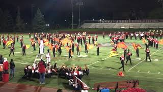 HCHS Marching Band and Color Guard Half Time Performance 10/11/19