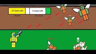 ROBLOX - Noobs Vs Zombies : Realish - Zombies dropping like flies