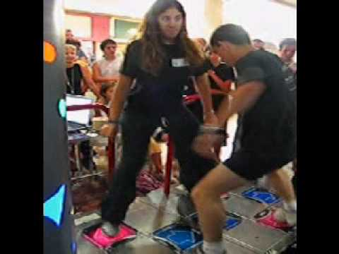 Roni Sh. (The girl) and Ronko (me) doing I believe in miracles in freestyle on DDR