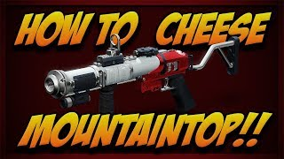 How to CHEESE the Mountaintop Quest!!!!!