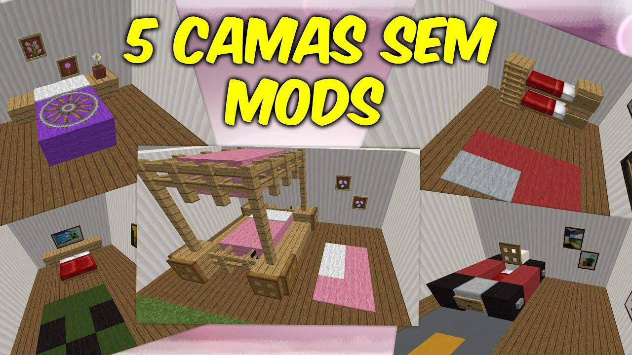 Minecraft tutorial de 5 camas sem mods youtube for Cama minecraft