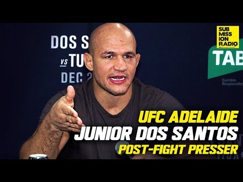 Junior dos Santos Reacts to Win Over Tai Tuivasa, Wants Alistair Overeem Rematch