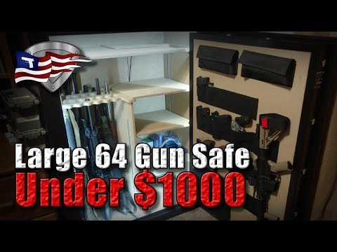 Best Large 64 Gun Safe Under 1000 Cannon Wide Body With Upgrades