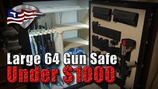 Best Large 64 Gun Safe Under $1000 / Cannon Wide Body with Upgrades