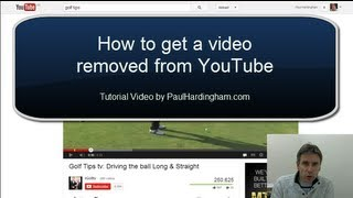 how to get a video removed from youtube