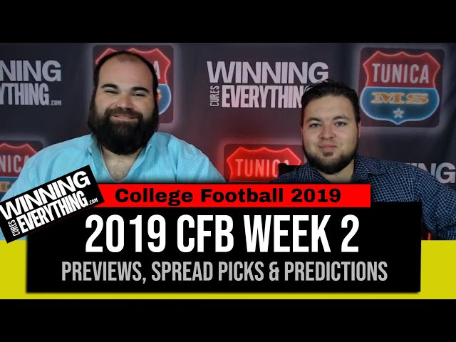 WCE: 2019 College Football Week 2 Preview & Big Game Spread Picks