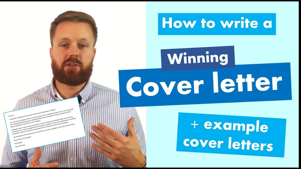 How To Write A Cover Letter 6 Examples Get Your Cv Noticed Youtube