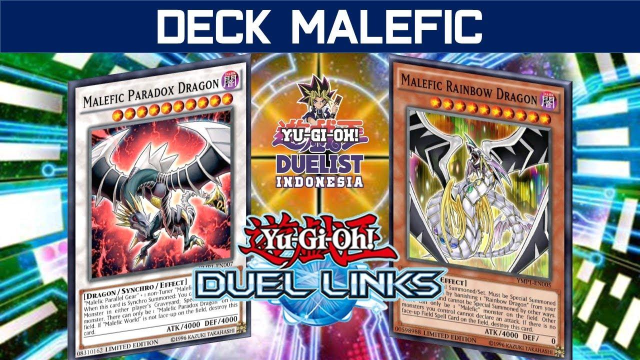 [DUEL LINKS] MANGGIL MONSTER ATK BESAR DENGAN MUDAH!! DECK MALEFIC!!
