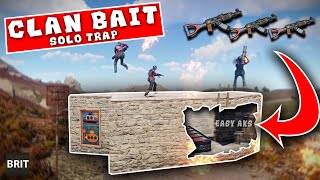 200IQ Solo Trap vs Dumb Clan - A Rust Story