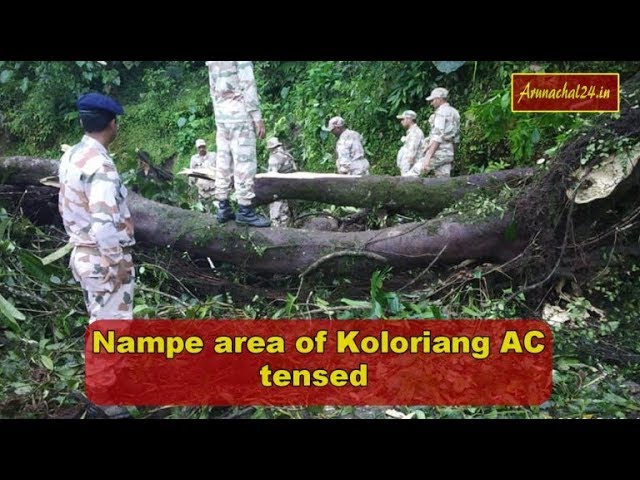 Arunachal re-poll- Nampe area of Koloriang again tensed