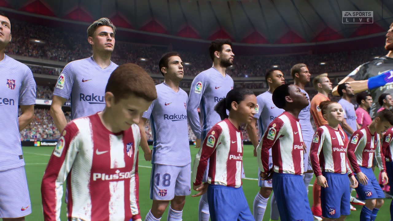 Download (PS5 / XBSX) FIFA 22 | Atletico Madrid vs FC Barcelona (Full 4K Next-Gen Gameplay)