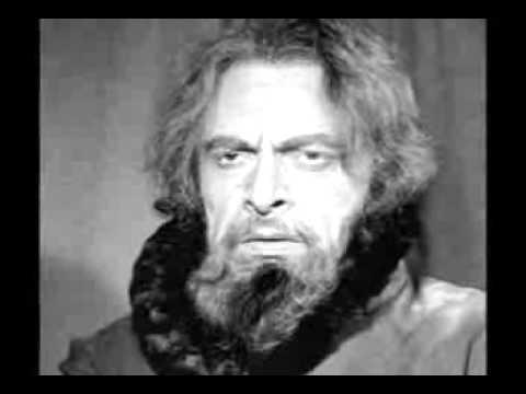 """Boris Christoff and Gulio Neri in the Grand Inquisitor Scene from """"Don Carlo"""""""