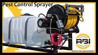 Pest control sprayer 50 gallon 12 volt pump reel for 12 volt hose reel motor