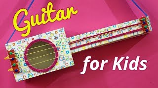 Easy Kid Activities &  Best Out of Waste from Cardboard | Handmade Guitar Toy Making for Kids!