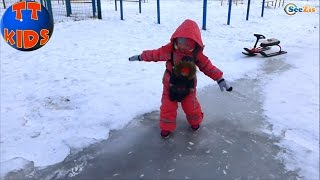 ✔ Беби Борн и Ярослава — зимняя прогулка на санях / Doll Baby Born with Yaroslava sleigh rides ✔