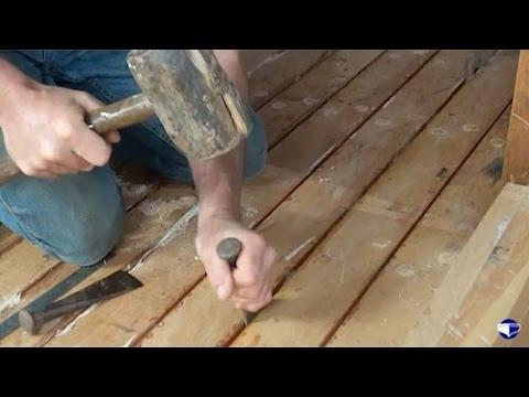 Caulking decks and hulls