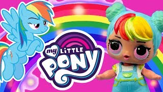 LOL Surprise  Metamorfoza w Rainbow Dash  My Little Pony