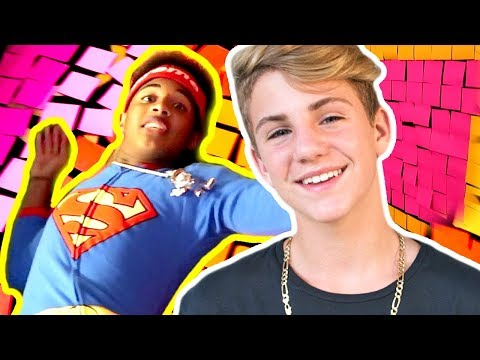 STICKY NOTE PRANK! JUSTIN FREAKS OUT!