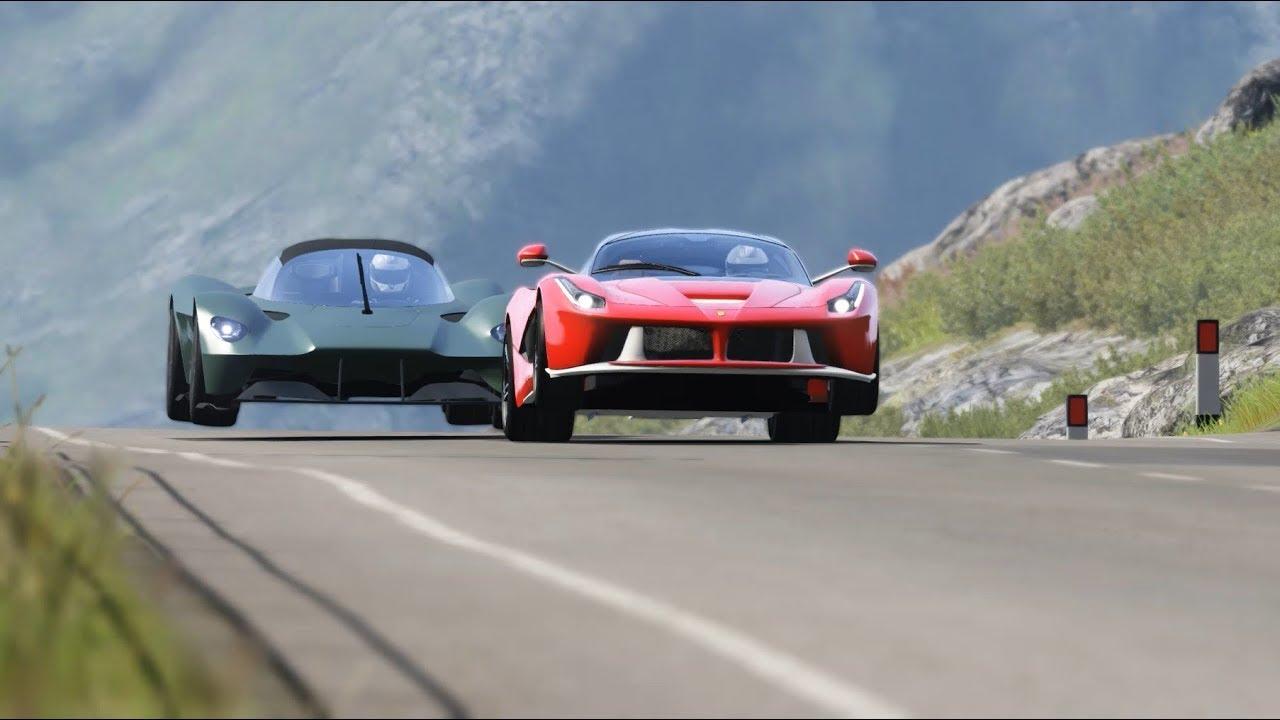 Aston Martin Valkyrie vs Lamborghini Aventador SVJ 63 vs Ferrari LaFerrari