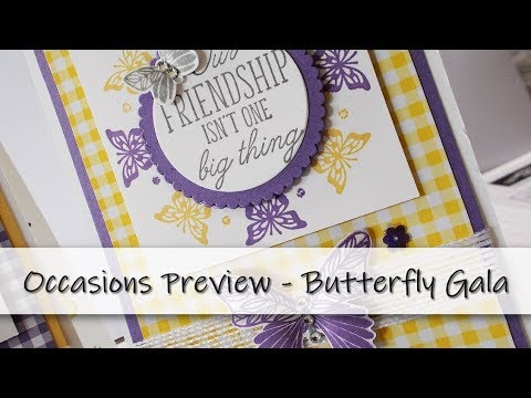59387ffe7 Butterfly Gala   Beauty Abounds Occasions Preview Stampin  Up! - YouTube