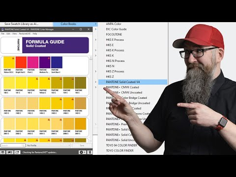 How to update the Pantone Colour Book Swatches in Adobe Illustrator, Photoshop and Indesign