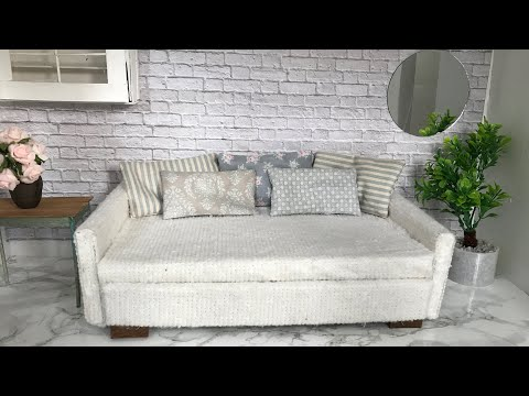 Diy: Dollhouse Sofa Bed / Pull-out Couch
