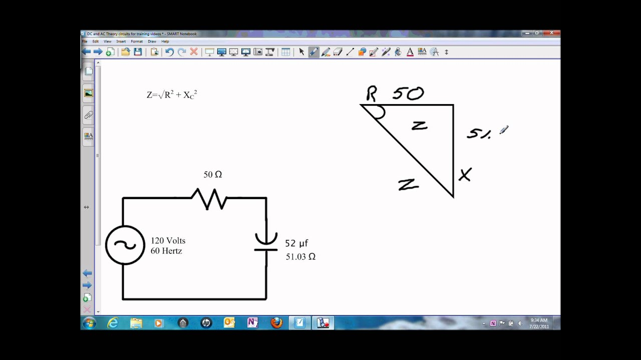 Solving For Impedance In A Series Rc Circuitwmv Youtube How Does Someone Calculate The Total Resistance Of Such Circuit