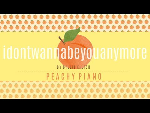 Idon'twannabeyouanymore - Billie Eilish | Piano Backing Track