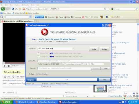 Huớng dẫn download video từ youtube về máy (cách 1)