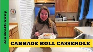 Simple Cabbage Roll Casserole