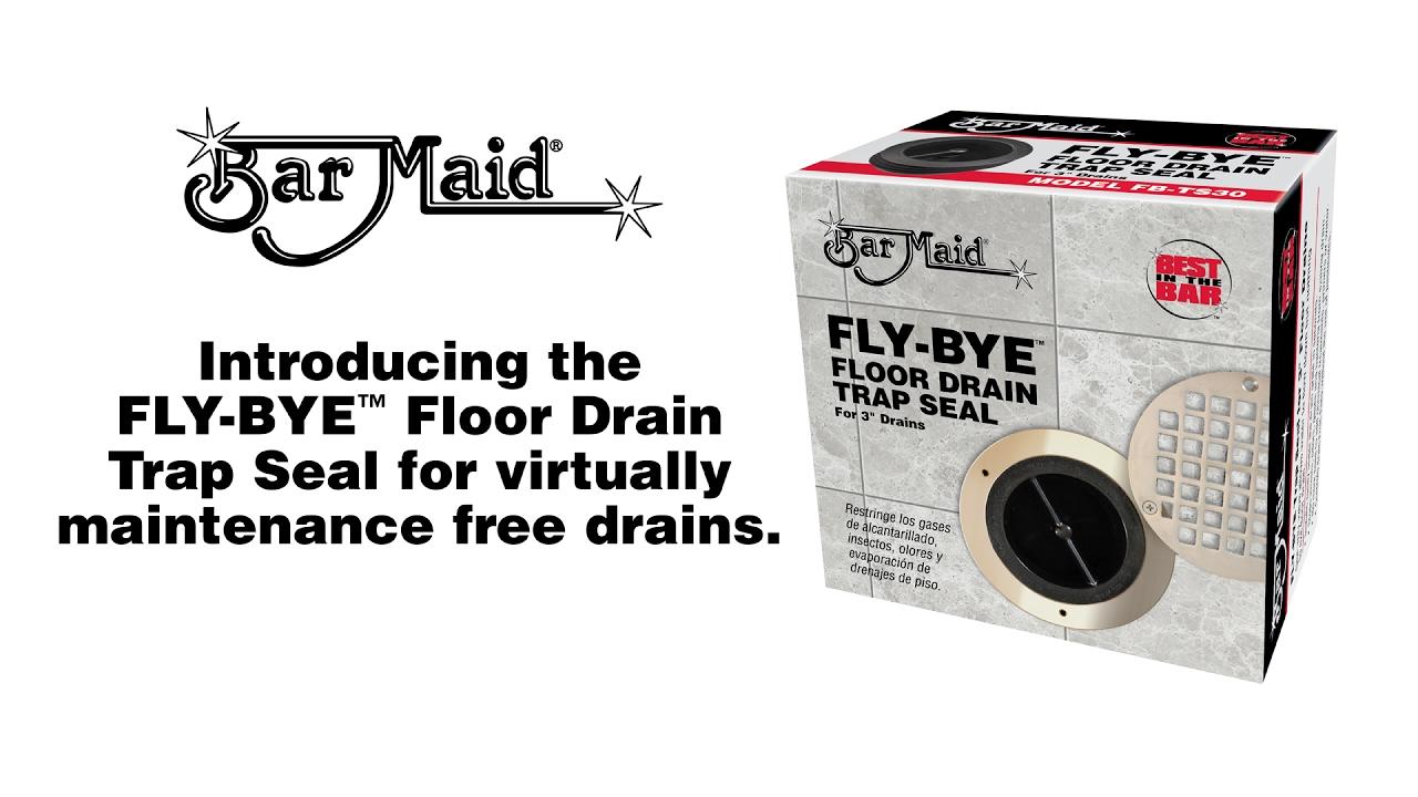 Bar maid fly bye floor drain trap seal youtube