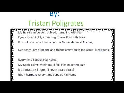 Everytime I Speak His Name (Piano Instrumental)