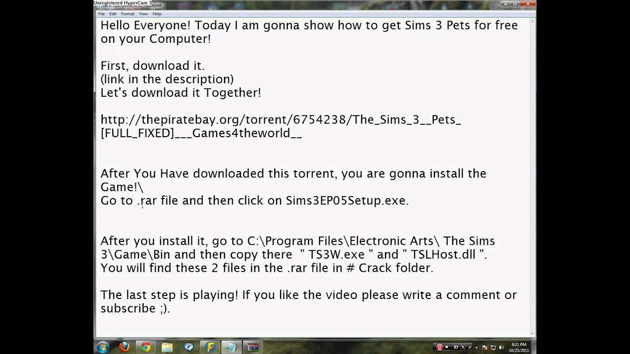 download the sims 3 pets free