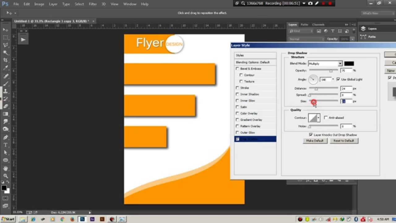 how to design a brochure in photoshop - how to make flyer design tutorial photoshop youtube