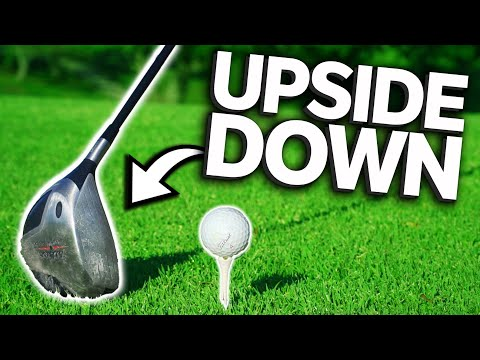 Playing Golf With Upside Down Clubs *Under Par Golf?!*