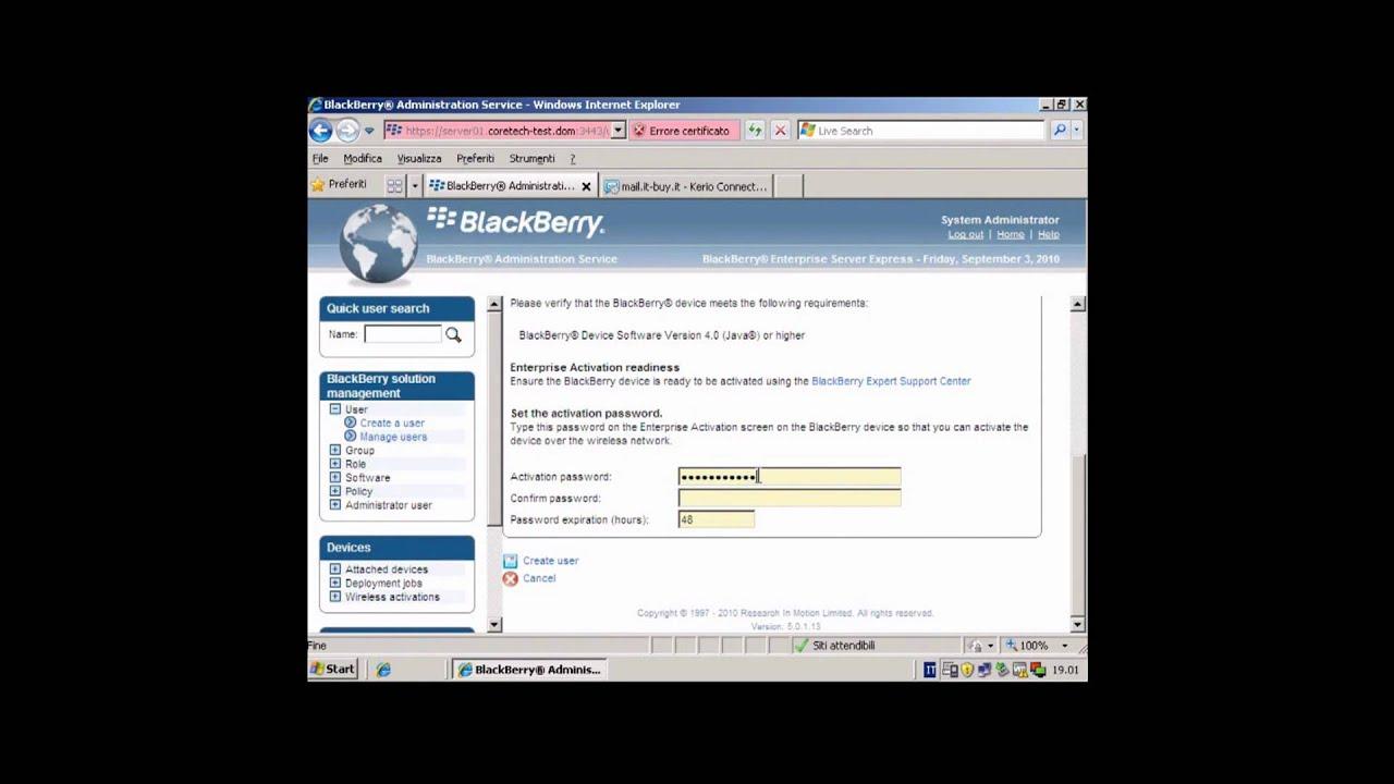 BlackBerry Enterprise Server   Funzionamento del BES - PARTE 2