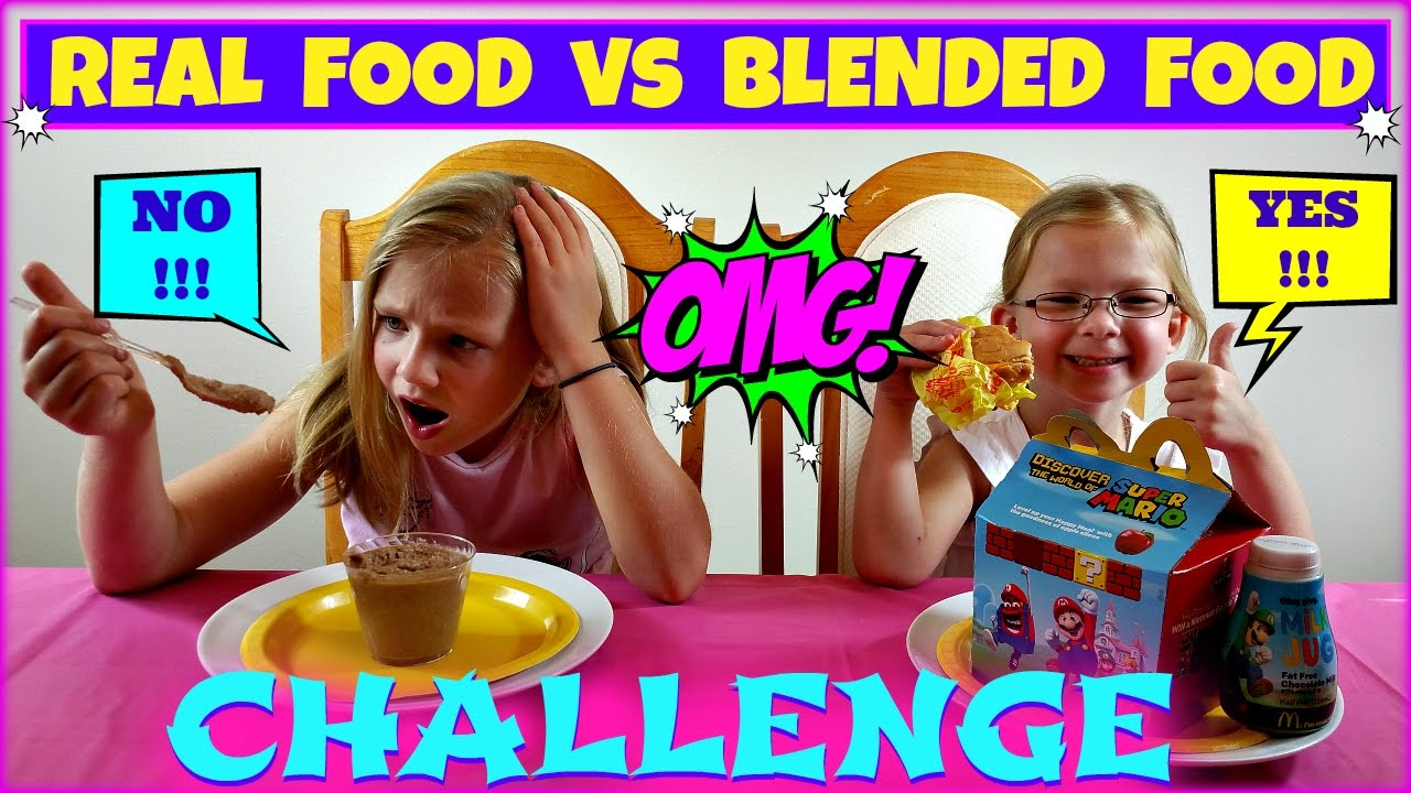 Real Food Vs Blended Food Challenge Magic Box Toys