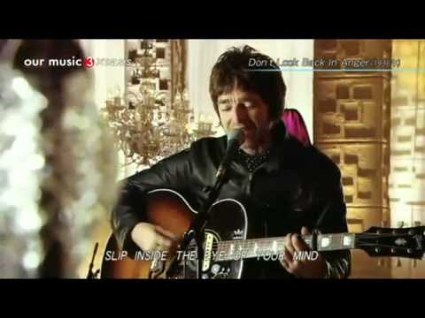 Noel Gallagher  ♫ Don't Look Back In Anger ♫  (Acoustic) HD Lyrics