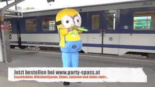 Comic Animation Minion Party-Spass.at Kindergeburtstag Programm