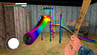 WE FOUND A RAINBOW EXTRA SLIDE IN GRANNY ONLINE HORROR GAME SCP Garry's Mod