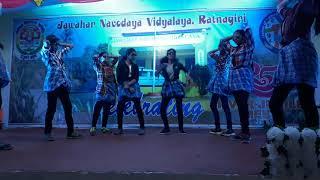 Dance performed on Silver Jubilee Of JNV Ratnagiri by 9th class